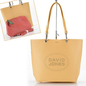 David Jones női táska (shopper) 6223-1 sárga