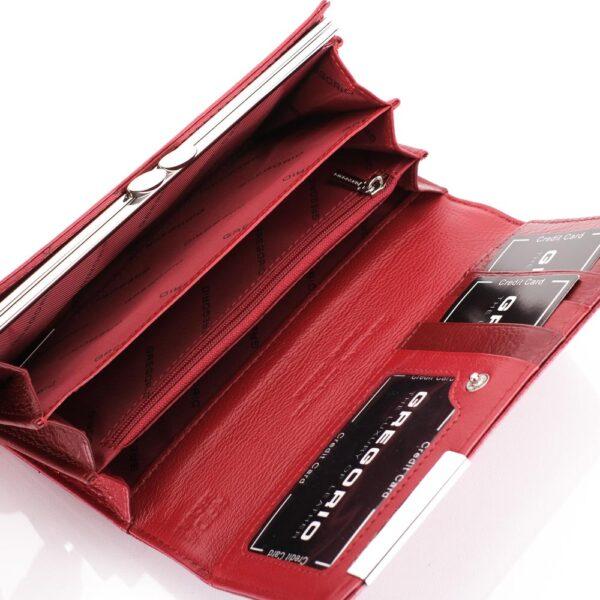 Piros női pénztárca valódi bőr Gregorio RFID GF100