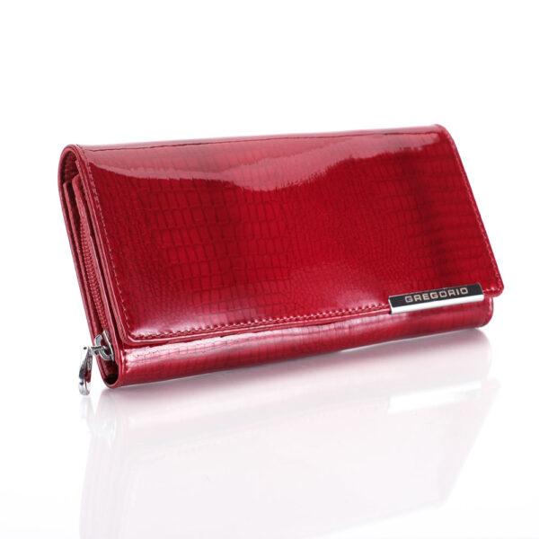 Női bőr pénztárca Gregorio GF106 piros RFID