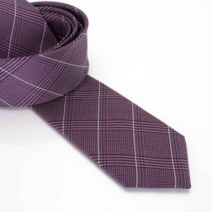 Lila csíkos Roberto Gabbani nyakkendő 7cm