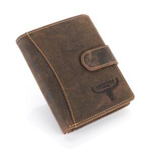 Férfi bőr pénztárca Buffalo WILD RM-33L-HTR barna
