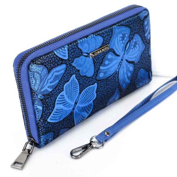 Női pénztárca valódi bőr Lorenti 76119-NBF kék