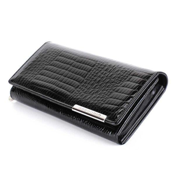 Női bőr pénztárca Gregorio GF106 fekete RFID