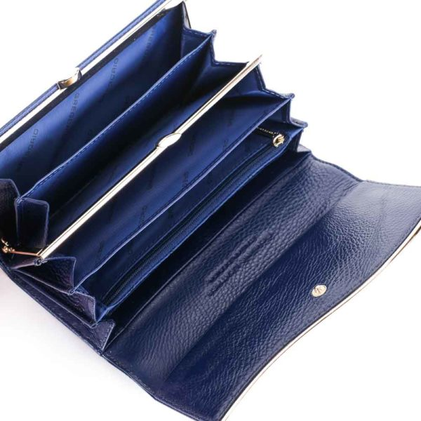 Női bőr pénztárca Gregorio ZLF100 kék