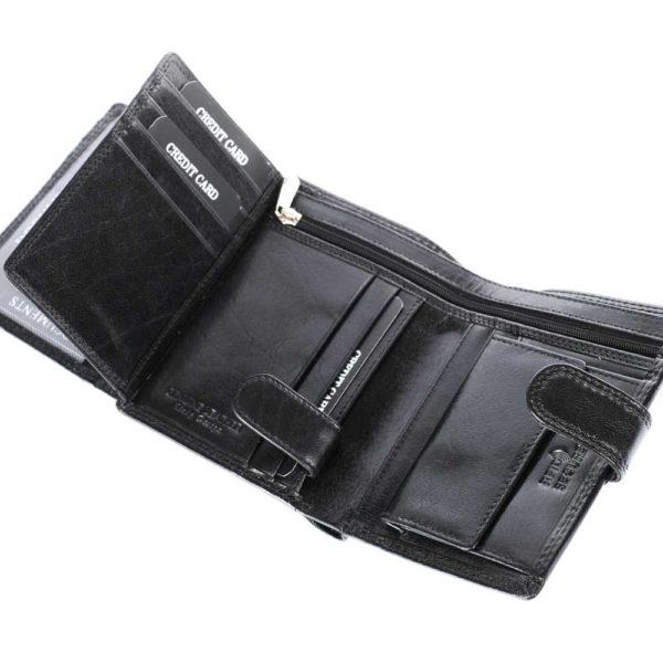 Férfi bőr pénztárca Pierre Andreus D1072L fekete RFID