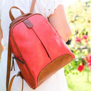 Hátitáska, hátizsák, Linda 986 piros derliss (1)